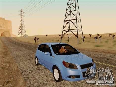 Chevrolet Aveo LT para GTA San Andreas vista hacia atrás