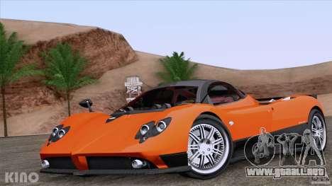 Pagani Zonda F para GTA San Andreas interior