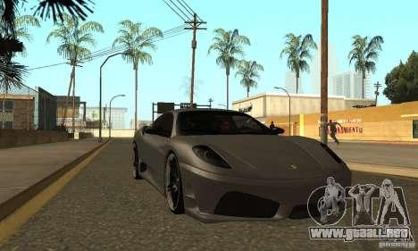 Ferrari 430 Scuderia Novitec para GTA San Andreas vista hacia atrás