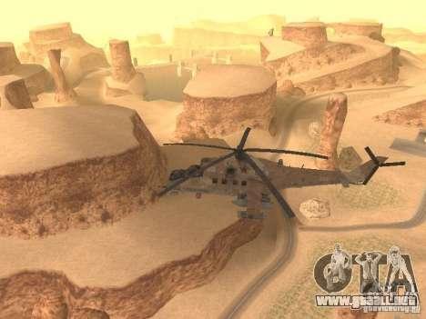 Mi-24P Desert Camo para visión interna GTA San Andreas
