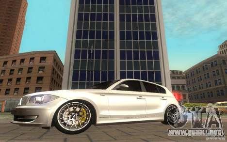 BMW 120i para GTA San Andreas vista posterior izquierda