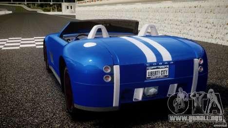 Ford Shelby Cobra Concept para GTA 4 Vista posterior izquierda