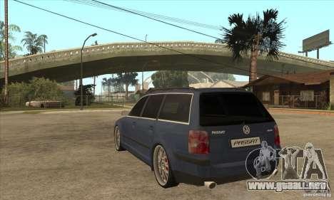 Volkswagen Passat B5.5 2.5TDI 4MOTION para GTA San Andreas vista posterior izquierda