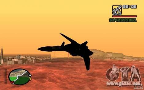 Y-f19 macross Fighter para GTA San Andreas vista posterior izquierda