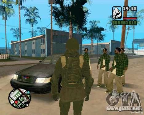 Piel SAS para GTA San Andreas segunda pantalla