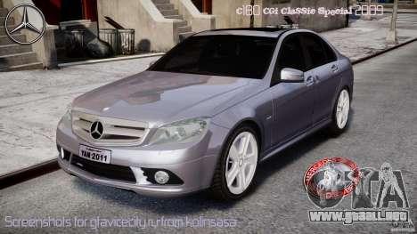 Mercedes-Benz C180 CGi Classic Special 2009 para GTA 4