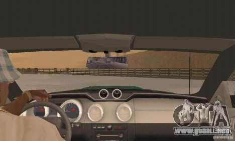 Saleen S281 v2 para vista lateral GTA San Andreas