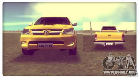 Toyota Hilux SRV 4x4 para GTA Vice City vista lateral izquierdo