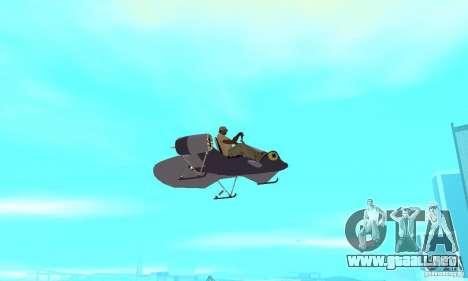 Flying Fish para GTA San Andreas vista hacia atrás