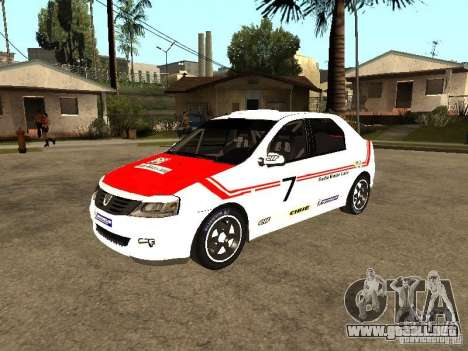Dacia Logan Rally Dirt para la vista superior GTA San Andreas