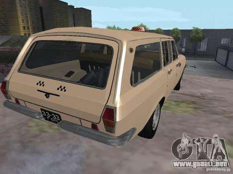 Taxi Volga GAZ-24 02 para GTA San Andreas vista posterior izquierda