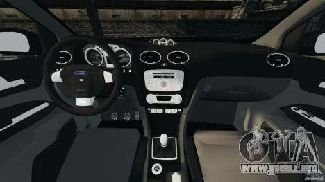 Ford Focus RS para GTA 4 vista hacia atrás