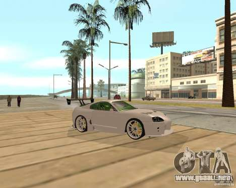 Toyota Supra TwinTurbo para la visión correcta GTA San Andreas