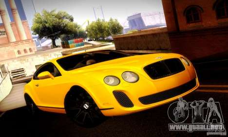 Bentley Continental Supersports para vista lateral GTA San Andreas