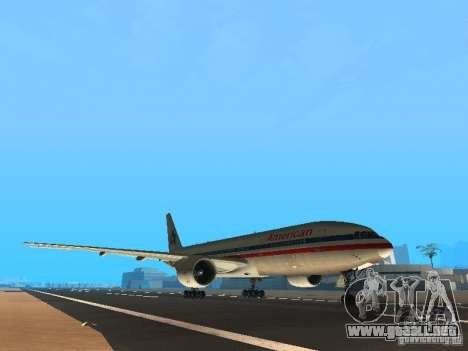 Boeing 777-200 American Airlines para GTA San Andreas left