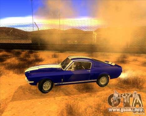 Shelby GT500 1967 para GTA San Andreas left