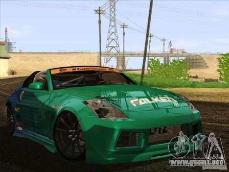Nissan 350Z Falken Tire para la visión correcta GTA San Andreas
