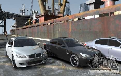 BMW M5 Hamman para GTA 4 vista hacia atrás