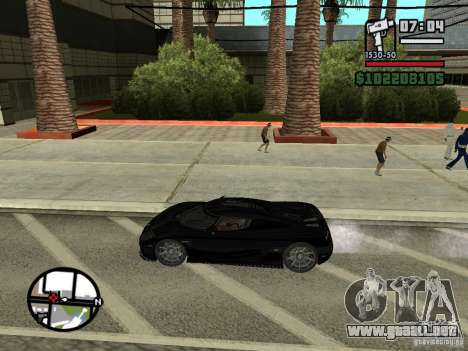 Koenigsegg CCX para GTA San Andreas left