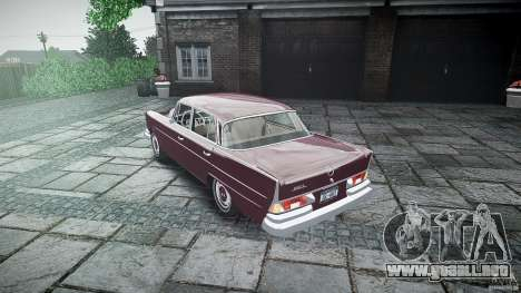 Mercedes Benz W111 Final para GTA 4 vista superior
