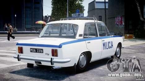 Fiat 125p Polski Milicja para GTA 4 vista lateral