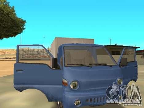 Hyundai Porter para GTA San Andreas vista hacia atrás