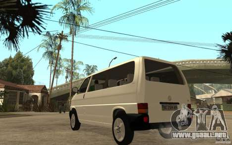 Volkswagen Transporter T4 para GTA San Andreas vista posterior izquierda