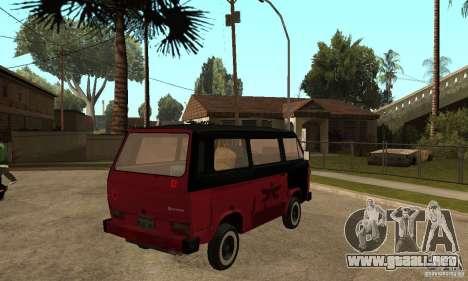 Volkswagen T3 Rusty para la visión correcta GTA San Andreas