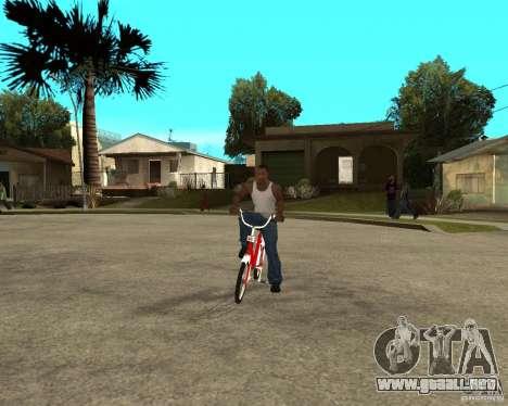 Tair GTA SA de la bici para GTA San Andreas vista hacia atrás