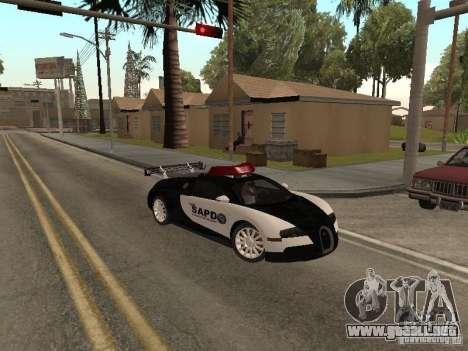 Bugatti Veyron Police para GTA San Andreas left
