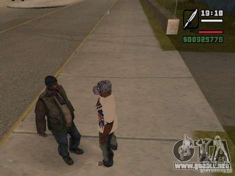 Dar a las personas sin hogar una pequeña trivia para GTA San Andreas