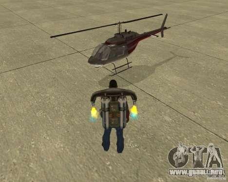 Transporte aéreo Pak para GTA San Andreas interior