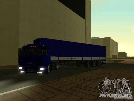 Trailer de los conductores de camión de serie para GTA San Andreas vista posterior izquierda