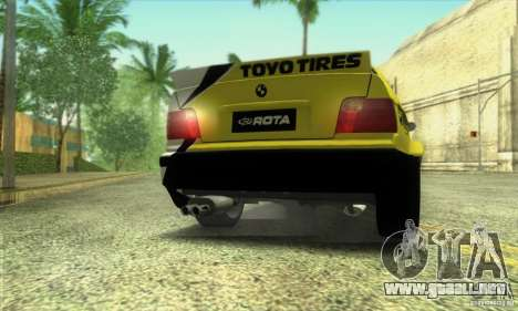 BMW E36 Urban Perfomance Garage para GTA San Andreas vista posterior izquierda