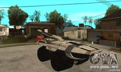 M35 Mako para GTA San Andreas vista hacia atrás
