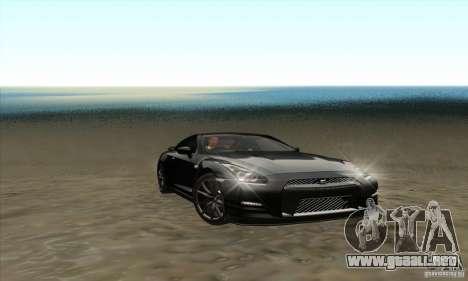 Nissan GT-R R-35 2012 para visión interna GTA San Andreas