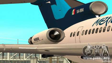 Boeing 727-200 Final Version para GTA San Andreas left
