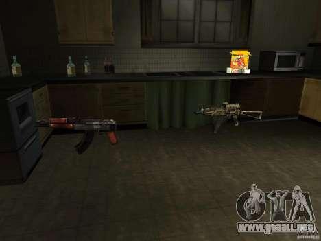 Armas nacional-versión 1.5 para GTA San Andreas tercera pantalla