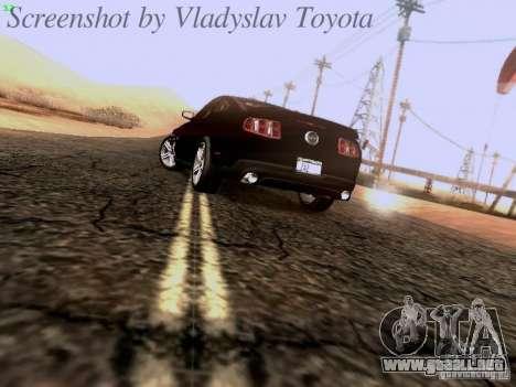 Ford Mustang GT 2011 Unmarked para GTA San Andreas vista posterior izquierda