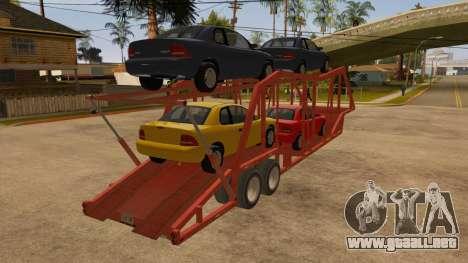 Carro del semi-remolque para la visión correcta GTA San Andreas