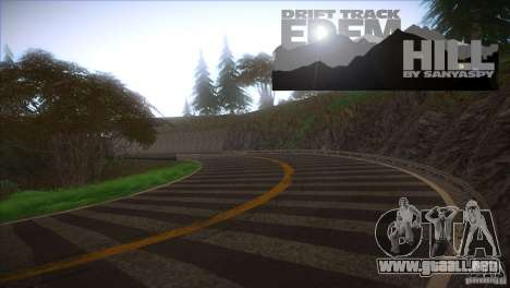 Edem Hill Drift Track para GTA San Andreas segunda pantalla