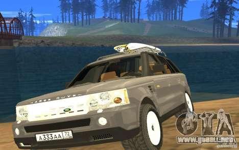Land Rover Range Rover para GTA San Andreas vista hacia atrás