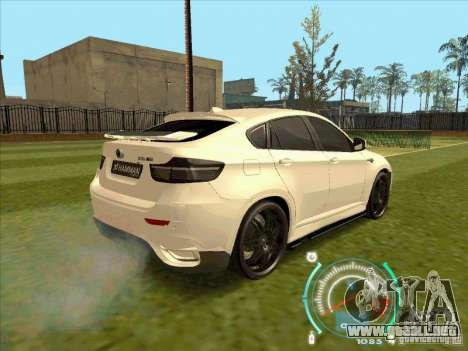 BMW X6 M Hamann Design para GTA San Andreas left