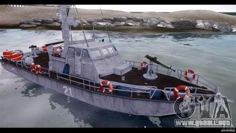 Russian PT Boat para GTA 4 Vista posterior izquierda