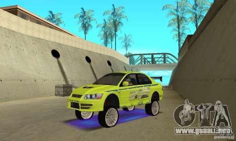 Luces de neón azules mejoradas para GTA San Andreas tercera pantalla