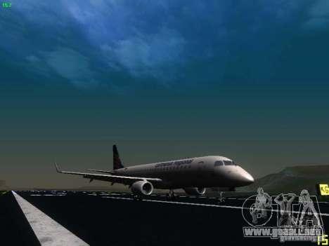 Embraer ERJ 190 Lufthansa Regional para GTA San Andreas vista posterior izquierda