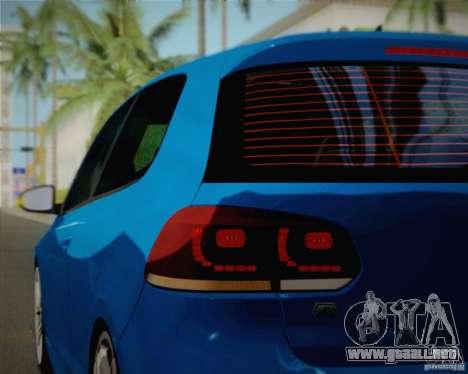 Volkswagen Golf R 2010 para vista lateral GTA San Andreas