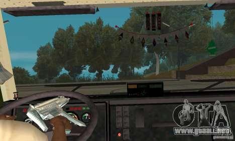 KAMAZ 5460 piel 5 para GTA San Andreas vista hacia atrás
