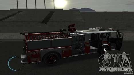 NEW Fire Truck para GTA 4 vista hacia atrás