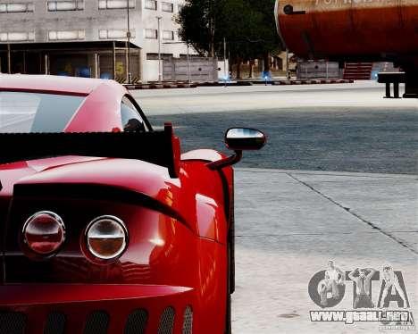 Ascari A10 2007 v2.0 para GTA 4 vista hacia atrás
